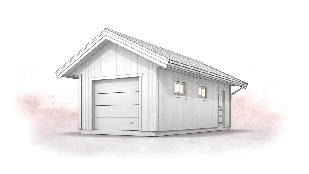 Topmoderne Garage 1 bil II-25